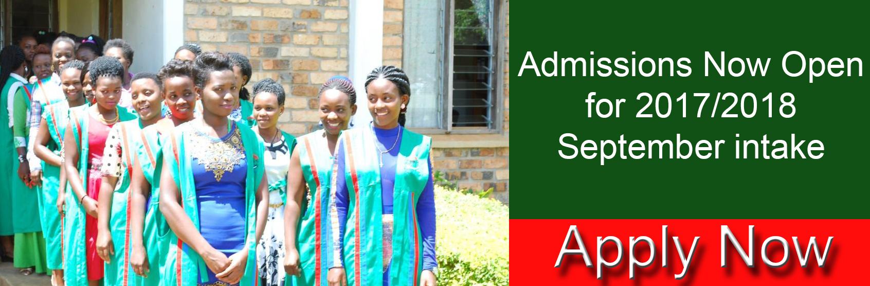 Admissions for 2017-2018 are Now Open