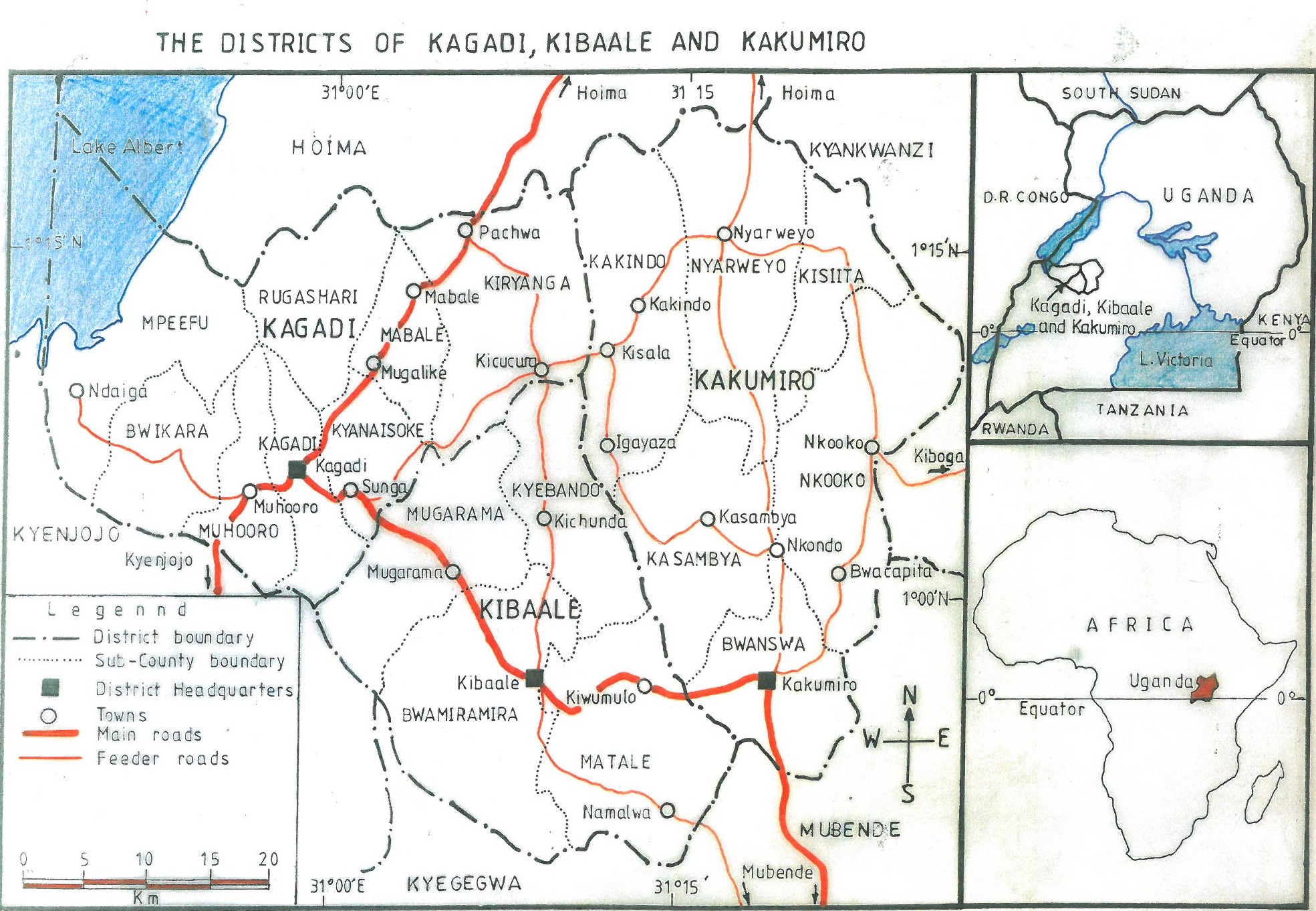 The ARU Academic Research Team develops the map of Kagadi, Kibaale and Kakumiro Districts
