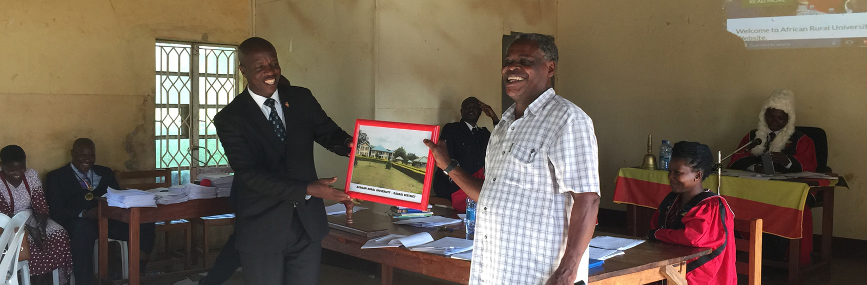 Dr. Mwalimu Musheshe Introduces ARU to Kagadi District Leadership